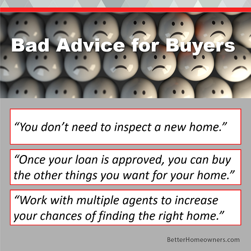 Bad Advice for Buyers