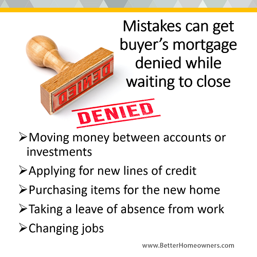 Mistakes to Deny a Mortgage