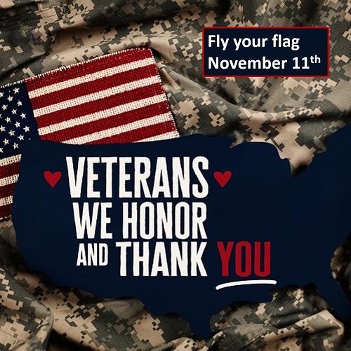 We honor Veteran's Day