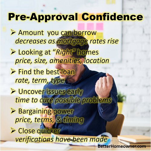 Pre-appproval has MANY benefits